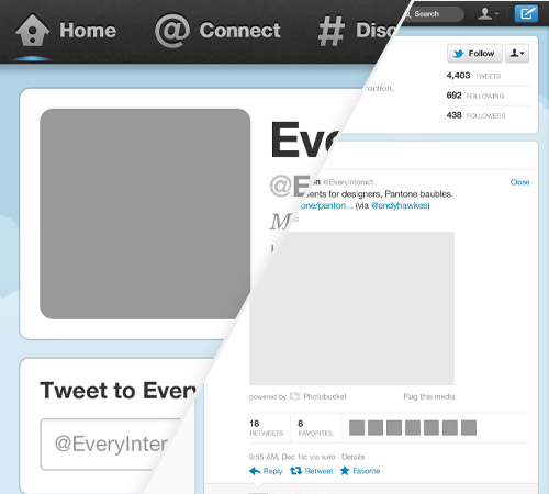 New Twitter Profile Page GUI PSD