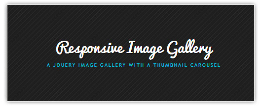 Responsive Image Gallery — jQuery image gallery with a thumbnail carousel